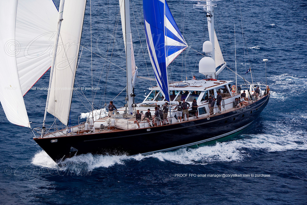 Axia racing in the 2010 St. Barth's Bucket Regatta, race 3.