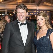 NLD/Amsterdam/20171012 - Televizier-ring Gala 2017, dirigent Dominic Seldis en partner