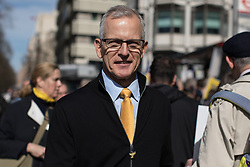 © Licensed to London News Pictures . 25/03/2017 . London , UK . Lib Dem peer BRIAN PADDICK . A Unite for Europe anti Brexit march through central London , from Park Lane to Westminster . Protesters are campaigning ahead of the British government triggering Article 50 of the Lisbon Treaty which will initiate Britain's withdrawal from the European Union . Photo credit : Joel Goodman/LNP