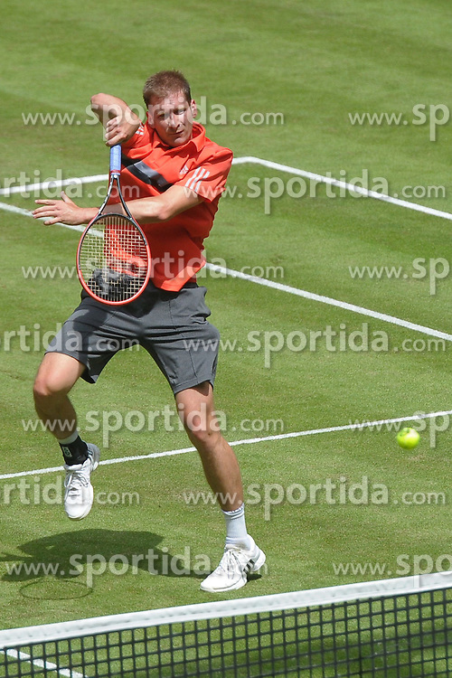 17.06.2015, Gerry Weber Stadion, Halle Westfalen, GER, ATP Tour, Gerry Weber Open 2015, Tag 3, im Bild Florian Mayer (GER) // during day tree of 2015 Gerry Weber Open of ATP world Tour at the Gerry Weber Stadion in Halle Westfalen, Germany on 2015/06/17. EXPA Pictures &copy; 2015, PhotoCredit: EXPA/ Eibner-Pressefoto/ Franz<br /> <br /> *****ATTENTION - OUT of GER*****