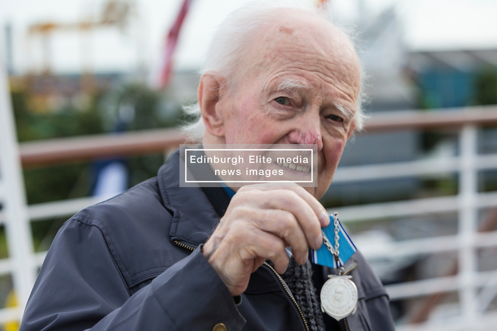 Over 250 guests including 42 veterans involved in the Arctic Convoys during WWII will attend a reception on the evening of Tuesday 30th August arranged by the Consulate General of Russia, to celebrate the 75th Anniversary since the first ship left the West coast of Scotland. Each veteran will be presented with a medal and a book to commemorate the anniversary.<br /> <br /> Pictured: John Lawrie (Arctic Convoy veteran)