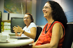 Muriel Saragoussi working day at the Brazilian Ministry of the Environment..© Tatiana Cardeal