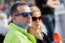 Enzo Smrekar with his wife during the 2nd Run of the 7th Ladies' Giant slalom at 52nd Golden Fox - Maribor of Audi FIS Ski World Cup 2015/16, on January 30, 2016 in Pohorje, Maribor, Slovenia. Photo by Vid Ponikvar / Sportida