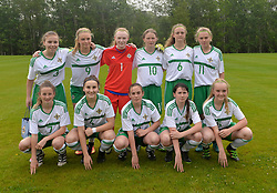 Northern Ireland team that lined out against the Republic of Ireland as part of the UEFA Women&rsquo;s U16 Tournament at United park Westport.<br /> Pic Conor McKeown