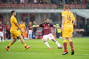 Gonzalo Higuain of AC Milan during the Italian championship Serie A football match between AC Milan and AS Roma on August 31, 2018 at San Siro stadium in Milan, Italy - Photo Morgese - Rossini / ProSportsImages / DPPI