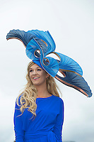 30/07/2015 Repro free   Erin de Burcaathenry at the  Kilkenny Best Dressed Lady at the 2015 Galway Races Ladies Day, this year sponsored by the Kilkenny Group. photo:Andrew Downes