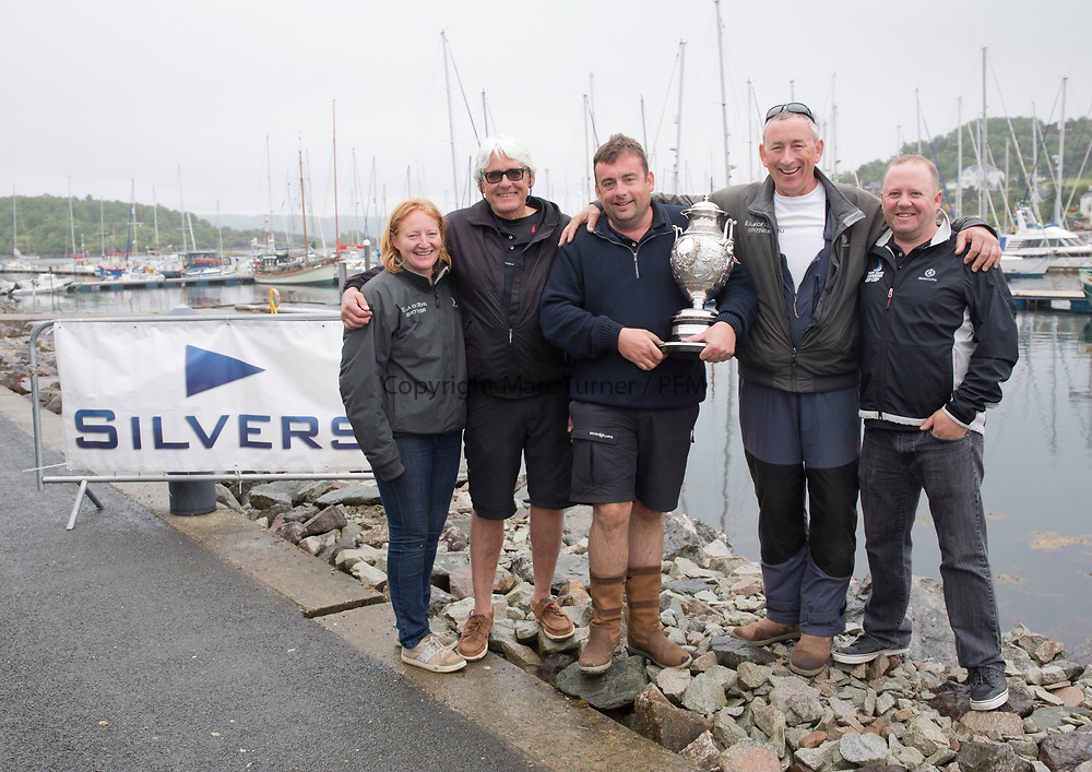 Silvers Marine Scottish Series 2017<br /> Tarbert Loch Fyne - Sailing<br /> <br /> Overall winners Jamie McGarry and crew of Eala of Rhu<br /> <br /> Credit: Marc Turner / CCC