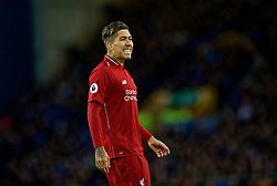 LIVERPOOL, ENGLAND - Sunday, March 3, 2019: Liverpool's Roberto Firmino during the FA Premier League match between Everton FC and Liverpool FC, the 233rd Merseyside Derby, at Goodison Park. (Pic by Laura Malkin/Propaganda)