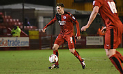 Gwion Edwards in action during the Sky Bet League 2 match between Crawley Town and Newport County at the Checkatrade.com Stadium, Crawley, England on 1 March 2016. Photo by Michael Hulf.