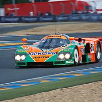 #55, 1991, Mazda 787B, demonstration run, driven by Patrick Dempsey at Le Mans 24H, 2011