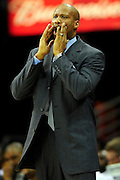 Feb. 13, 2011; Cleveland, OH, USA; Cleveland Cavaliers head coach Byron Scott yells to his players during the second quarter against the Washington Wizards at Quicken Loans Arena. Mandatory Credit: Jason Miller-US PRESSWIRE