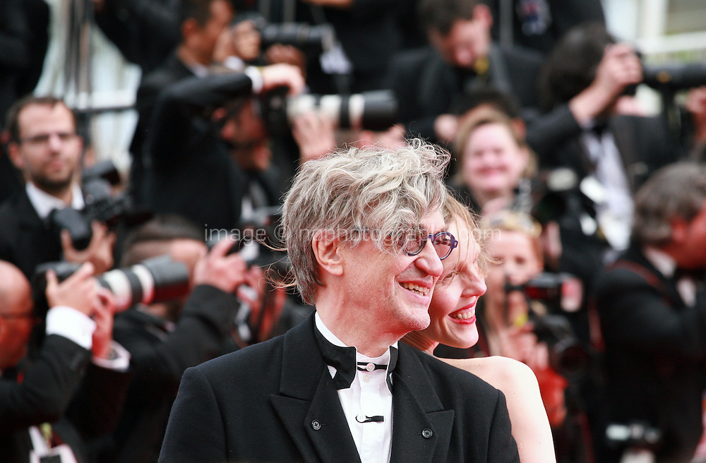 Photographer Donata Wenders and Director Wim Wenders at The Search gala screening red carpet at the 67th Cannes Film Festival France. Tuesday 20th May 2014 in Cannes Film Festival, France.