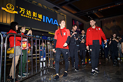 NANNING, CHINA - Saturday, March 24, 2018: Wales' Harry Wilson and Sam Vokes during a meet & greet event at the Nanning Wanda Mall during the 2018 Gree China Cup International Football Championship. (Pic by David Rawcliffe/Propaganda)