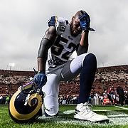 Los Angeles Rams middle linebacker Alec Ogletree (52) during the NFL regular season game against the Atlanta Falcons on Sunday, Dec. 11, 2016 in Los Angeles. (Ric Tapia/Rams)
