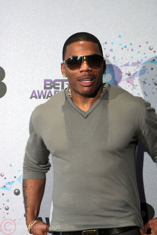 Los Angeles, CA-June 30:  Recording Artist Nelly backstage at the 2013 BET Awards Winners's Room Inside held at LA Live on June 30, 2013 in Los Angeles, CA. ©Terrence Jennings