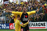 FOOTBALL - FRENCH CUP 2009/2010 - 1/4 FINAL - QUEVILLY US v US BOULOGNE - 23/03/2010 - PHOTO ERIC BRETAGNON / DPPI - JOY ANTONY LAUP  (QUE)