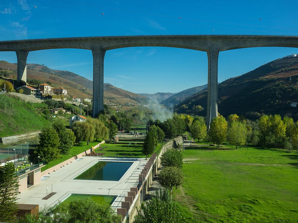 Modern bridge over the Douro