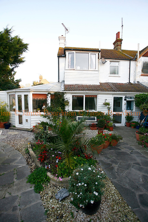 JAMES BOARDMAN / 07967642437<br /> General View of Richard and Jo King's cottage. Richard and Jo have had an extension put onto there cottage in Broadstairs in Kent and rent out the rooms to foreign students.