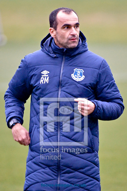 Everton manager Roberto Mart&iacute;nez during the Everton training session prior to their  Europa League match against Dynamo Kyiv at Finch Farm, Liverpool<br /> Picture by Ian Wadkins/Focus Images Ltd +44 7877 568959<br /> 11/03/2015