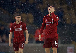 WOLVERHAMPTON, ENGLAND - Friday, December 21, 2018: Liverpool's captain Jordan Henderson during the FA Premier League match between Wolverhampton Wanderers FC and Liverpool FC at Molineux Stadium. (Pic by David Rawcliffe/Propaganda)