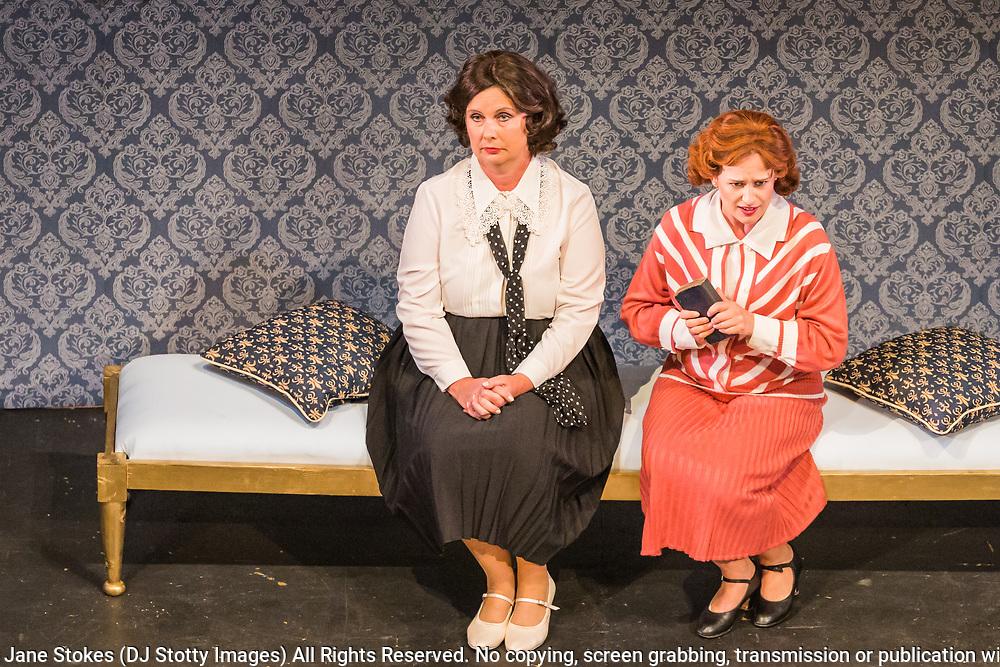 Matinee performance of Ruddigore performed by during the National Gilbert &amp; Sullivan Opera Company in Buxton Opera House Buxton, England on Sunday 05 August 2018 Photo: Jane Stokes<br /> <br /> DIRECTOR/Vivian Coates<br /> CONDUCTOR/James Hendry<br /> CHOREOGRAPHER/Mary McDonagh<br /> <br /> CAST<br /> SIR RUTHVEN MURGATROYD (Robin Oakapple)/Bradley Travis<br /> RICHARD DAUNTLESS/David Menezes<br /> SIR DESPARD MURGATROYD/Matthew Siveter<br /> OLD ADAM GOODHEART/Stephen Godward<br /> ROSE MAYBUD/Rosanna Harris<br /> MAD MARGARET/Mae Hendorn<br /> DAME HANNAH/Gaynor Keeble<br /> ZORAH/Juliet Montgomery<br /> RUTH/Alexandra Hazard<br /> SIR RODERIC MURGATROYD/Steven Page<br /> <br /> THE CHORUS<br /> Hannah Boxall, Nicole Boardman, Rhiannon Doogan, Joanna Goldspink, Maisy Hepburn, Jennifer Parker, Julie Power, Stephanie Poropat, Eloise Waterhouse, Emma Watkinson<br /> <br /> Tom Blackwell, Andrew Brown, Peter Brooks, Stephen Fawell, Matthew Kellett, Michael Vincent Jones, Henry Smith, Jonathan Stevens, Tim Southgate<br /> <br /> PRODUCTION TEAM<br /> <br /> TOUR MANAGER/Neil Smith<br /> STAGE MANAGER/Sarah Kent<br /> ASSISTANT STAGE MANAGER/Claire Litton<br /> LIGHTING DESIGN/David Marsden<br /> WARDROBE SUPERVISOR/ David Morgan<br /> SET DESIGN/ Tin Shed Scenery<br /> REPETITEUR/Erica Gundesen
