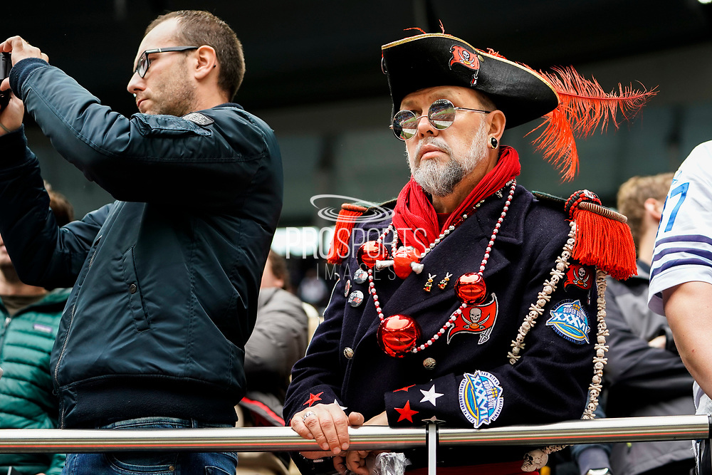 Tampa Bay Buccaneers fan during the International Series match between Tampa Bay Buccaneers and Carolina Panthers at Tottenham Hotspur Stadium, London, United Kingdom on 13 October 2019.