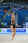 Mamun Margarita during final at clubs in Pesaro World Cup at Adriatic Arena on 12 April 2015. Margarita was born November 1,1995 in Moscow.