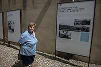 The last survivors: Mme Andr&eacute;e Gaillard<br /> At the age of 8, Andr&eacute;e Gaillard was Interned with his mother. She is the most youngest internee still alive.<br /> She will say to us: I am now an &quot;old fossil&quot;. <br /> But every time I come back, here, in this prison ... I have 8 years always.