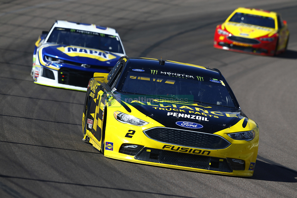 March 11, 2018 - Avondale, Arizona, United States of America - March 11, 2018 - Avondale, Arizona, USA: Brad Keselowski (2) brings his car through the turns during the Ticket Guardian 500(k) at ISM Raceway in Avondale, Arizona. (Credit Image: © Chris Owens Asp Inc/ASP via ZUMA Wire)
