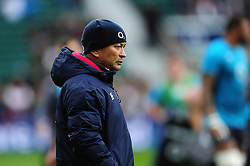 England Rugby Head Coach Eddie Jones looks on during the pre-match warm-up - Mandatory byline: Patrick Khachfe/JMP - 07966 386802 - 26/02/2017 - RUGBY UNION - Twickenham Stadium - London, England - England v Italy - RBS Six Nations Championship 2017.