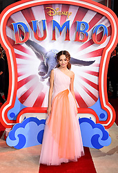 Nico Parker attending the European premiere of Dumbo held at Curzon Mayfair, London.