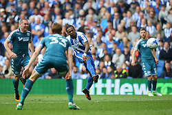 Gaetan Bong of Brighton & Hove Albion shoots - Mandatory by-line: Jason Brown/JMP - 17/04/2017 - FOOTBALL - Amex Stadium - Brighton, England - Brighton and Hove Albion v Wigan Athletic - Sky Bet Championship
