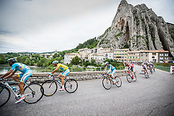 Peloton with Vincenzo Nibali (ITA) of Astana Pro Team, Tour de France, Stage 15: Tallard / Nîmes, UCI WorldTour, 2.UWT, Nîmes, France, 20th July 2014, Photo by BrakeThrough Media