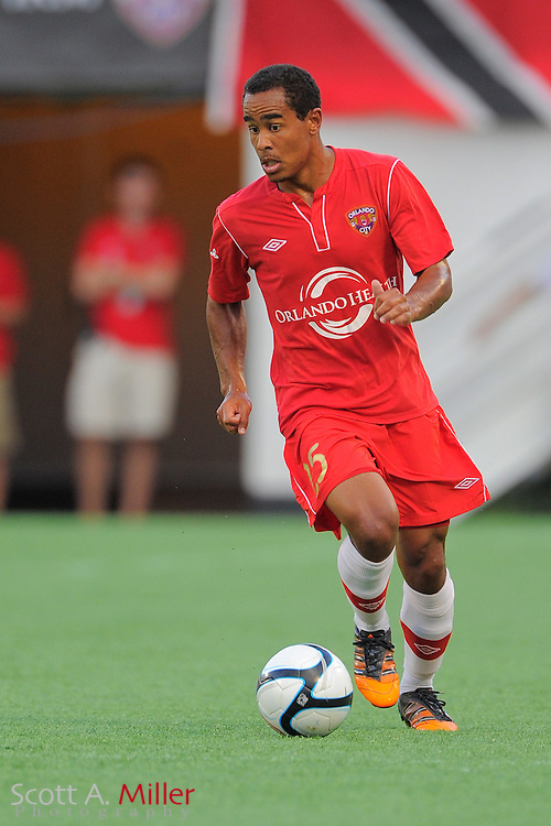 Orlando City Lions forward George Davis IV (25) during the Lions 4-0 win over the Charleston Battery at the Florida Citrus Bowl on July 27, 2012 in Orlando, Florida. The win clinched the USL-Pro regualr season title for Orlando...© 2012 Scott A. Miller..