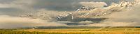 Teton Point Sunrise Panoramic, Grand Teton National Park, Wyoming