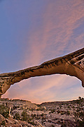 Owachomo bridge at sunset - Natural Bridges Monument - Utah