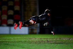 Guinness PRO14, Rodney Parade, Newport, UK 06/03/2020<br /> Dragons vs Benetton Rugby<br /> Rhodri Williams of Dragons scores his sides first try of the game <br /> Mandatory Credit ©INPHO/Ryan Hiscott