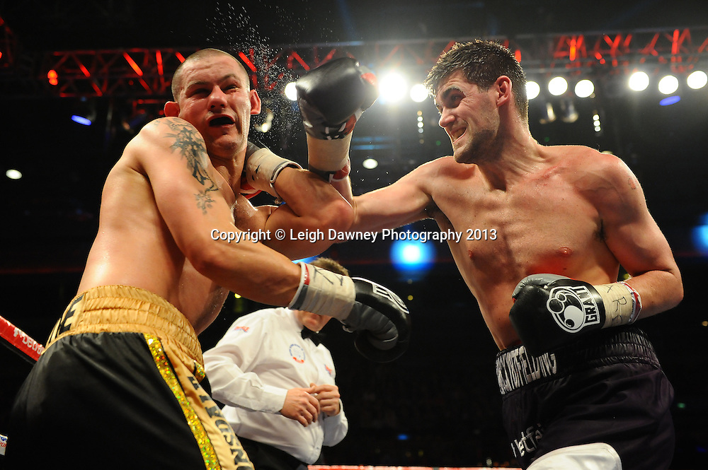 Rocky Fielding defeats Wayne Reed in a 10x3 min bout for the English Super-Middleweight Title at the Echo Arena, Liverpool, London, UK on the 30th March 2013. Matchroom Sport © Leigh Dawney Photography 2013.