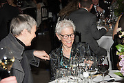 ROSE ENGLISH; JOAN JONAS, WHITECHAPEL GALLERY ART ICON, ;  Whitechapel Gallery Art Icon Gala, supported by the Swarovski Foundation, Honoring the lifetime achievement of Joan Jonas. Christ Church Spitafields. London.