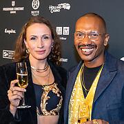 NLD/Amsterdam/20191114 - Uitreiking Esquires Best Geklede Man 2019,<br />  Edson Sabajo en partner
