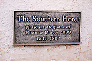 Historic plaque at the Southern Hotel, Dolores, Colorado