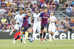 September 18, 2018 - Barcelona, Catalonia, Spain - FC Barcelona defender Jordi Alba (18) during the UEFA Champions League match between FC Barcelona and PSV Eindhoven at Camp Nou Stadium corresponding of matchday 1, group B on September 18, 2018 in Barcelona, Spain. (Credit Image: © Mikel Trigueros/NurPhoto/ZUMA Press)