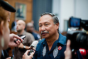 Sep 24, 2010 - Washington, District of Columbia, U.S., - Arturo Rodriguez, president of United Farm Workers, testified on Capitol Hill Friday about the conditions facing America's undocumented farm workers. Rodriguez  testified before a House Judiciary subcommittee to bring attention to the workers' hardships.  Credit Image: © Pete Marovich/ZUMA Press)