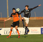 Dundee  United's Scott Fraser (left) and Dundee's Craig Wighton - Dundee v Dundee United, SPFL Development League at Gayfield, Arbroath<br /> <br />  - &copy; David Young - www.davidyoungphoto.co.uk - email: davidyoungphoto@gmail.com