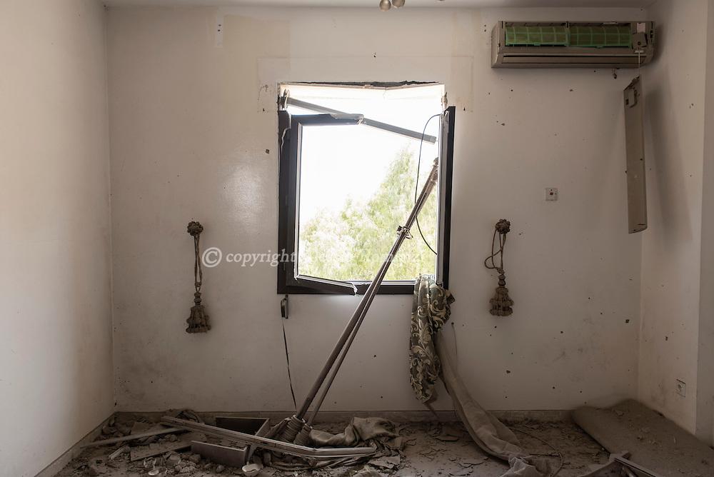 Libya: Damaged room in 700 neighbourhood in Sirte. Alessio Romenzi