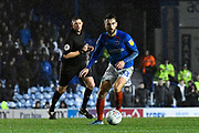 Ben Close (33) of Portsmouth on the attack during the EFL Sky Bet League 1 match between Portsmouth and Ipswich Town at Fratton Park, Portsmouth, England on 21 December 2019.