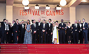 "(L-R) Zoe Saldana, Billy Crudup, Noah Emmerich, Guillaume Canet, Clive Owen, Marion Cotillard, Jamie Hector, Lili Taylor and Domenick Lombardozz attends ""Blood Ties"" Red Carpet  during the 66th Annual Cannes Film Festival at the Palais des Festivals on May 20, 2013 in Cannes, France.."