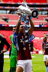 Andre Green of Aston Villa celebrates winning the Sky Bet Championship Playoff Final and winning promotion to the Premier League - Mandatory by-line: Robbie Stephenson/JMP - 27/05/2019 - FOOTBALL - Wembley Stadium - London, England - Aston Villa v Derby County - Sky Bet Championship Play-off Final