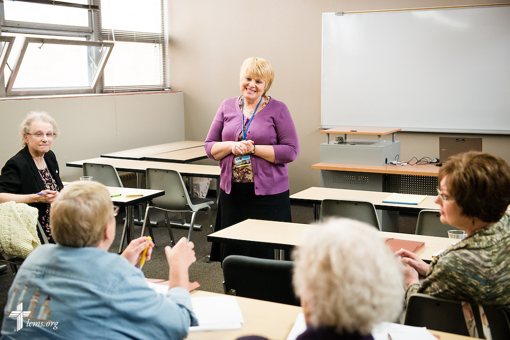 Carol A. Lueders Bolwerk leads a breakout session during the  22nd Annual Concordia Conference for Parish Nurse and Congregational Health Ministries at Concordia University Wisconsin in Mequon, Wis., on Wednesday, May 28, 2014. LCMS Communications/Erik M. Lunsford
