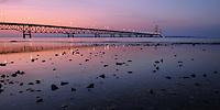 Mackinac Bridge<br /> from Mackinaw City, Michigan